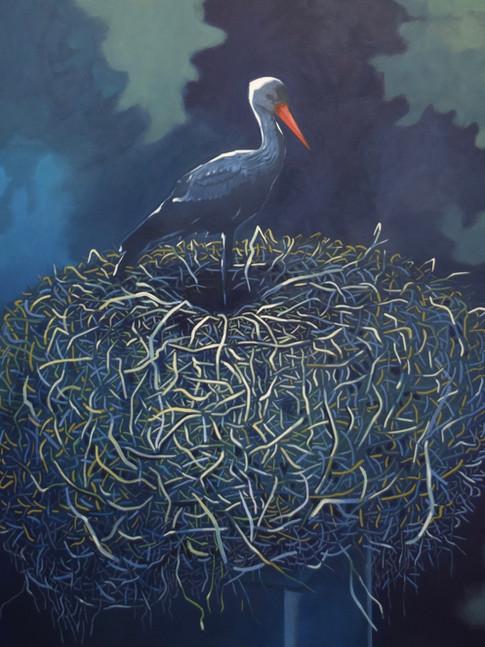 Thomas Geyer | Nest | 2017 |Eitempera auf Leinwand | 120 x 100cm | 3300 Euro