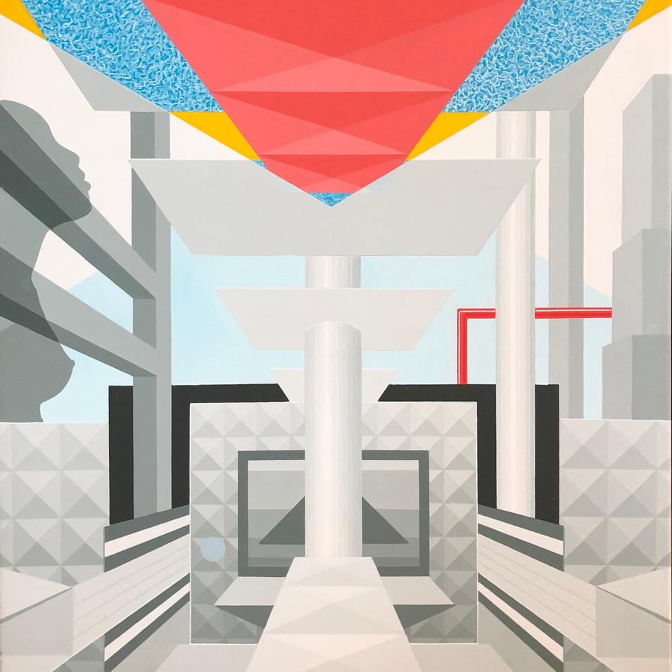 Harald Gallasch |Fehlersuche |o.J. | Acryl auf Leinwand | 80 x 70 cm | 2900 Euro