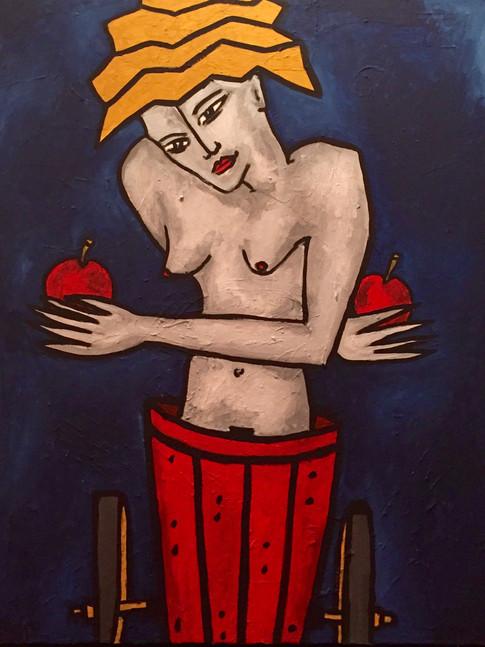 Klaus Süß   Eva und kein Ende   2007   Öl auf Leinwand   99 x 79 cm   2700 Euro