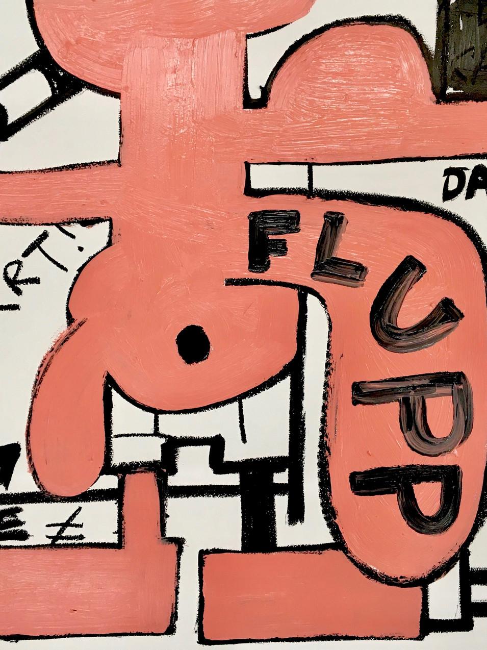 Oliver Kossack | Flotter Einer quasi sozusagen | Ölstick, MDF | 50 x 70 cm | 2500 Euro