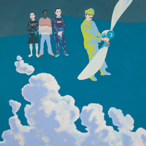 Pierre Fischer | helice | 2010 | Öl und Acryl auf Leinwand |140 x 180 cm| 6900 Euro