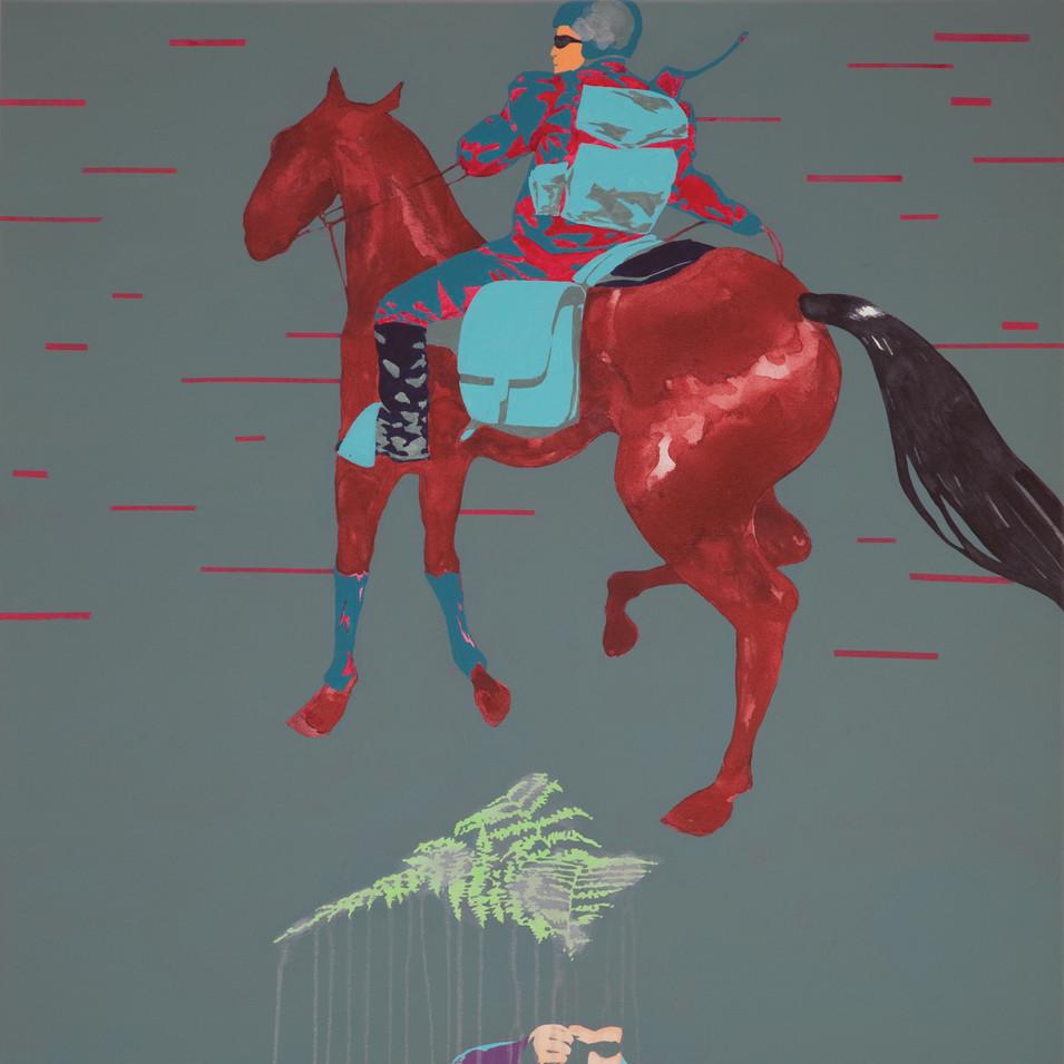 Pierre Fischer | Farn |2009 | Öl und Acryl auf Leinwand 120 x 80 cm | 4300 Euro