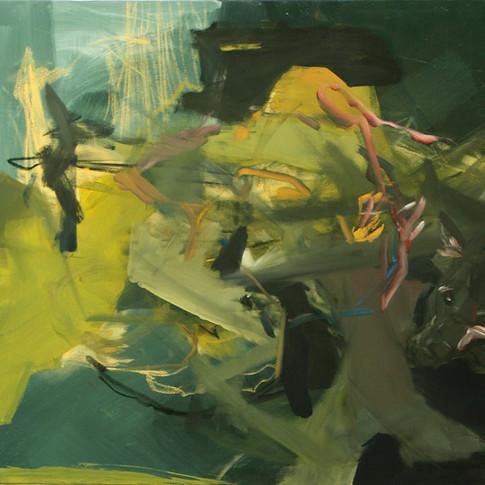 Vivien Nowotsch | Wolf | 2010/2012 | Acryl, Öl, Pastellkreide auf Leinwand | 100 x 80 cm | 1930 Euro