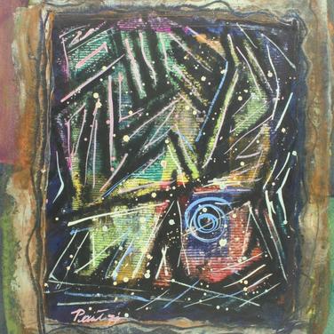 Georg Paul I Vision I 1971 I Aquarell und Tempera I 40 x 33 cm I 1500 Euro