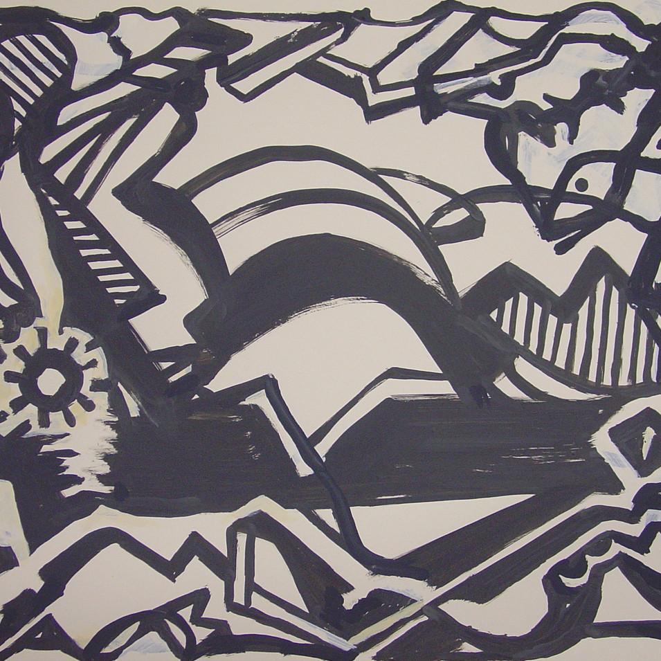 Wolfgang Opitz | o.T. | 2019 | Malerei auf Papier |40 x 60 cm |650 Euro