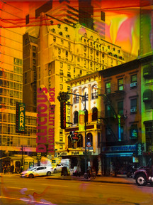 Jetzig, Helle | NY Reloaded E 14 | 2017 | Malerei und Siebdruck auf Fotografie | 30 x 40 cm | 650 Euro