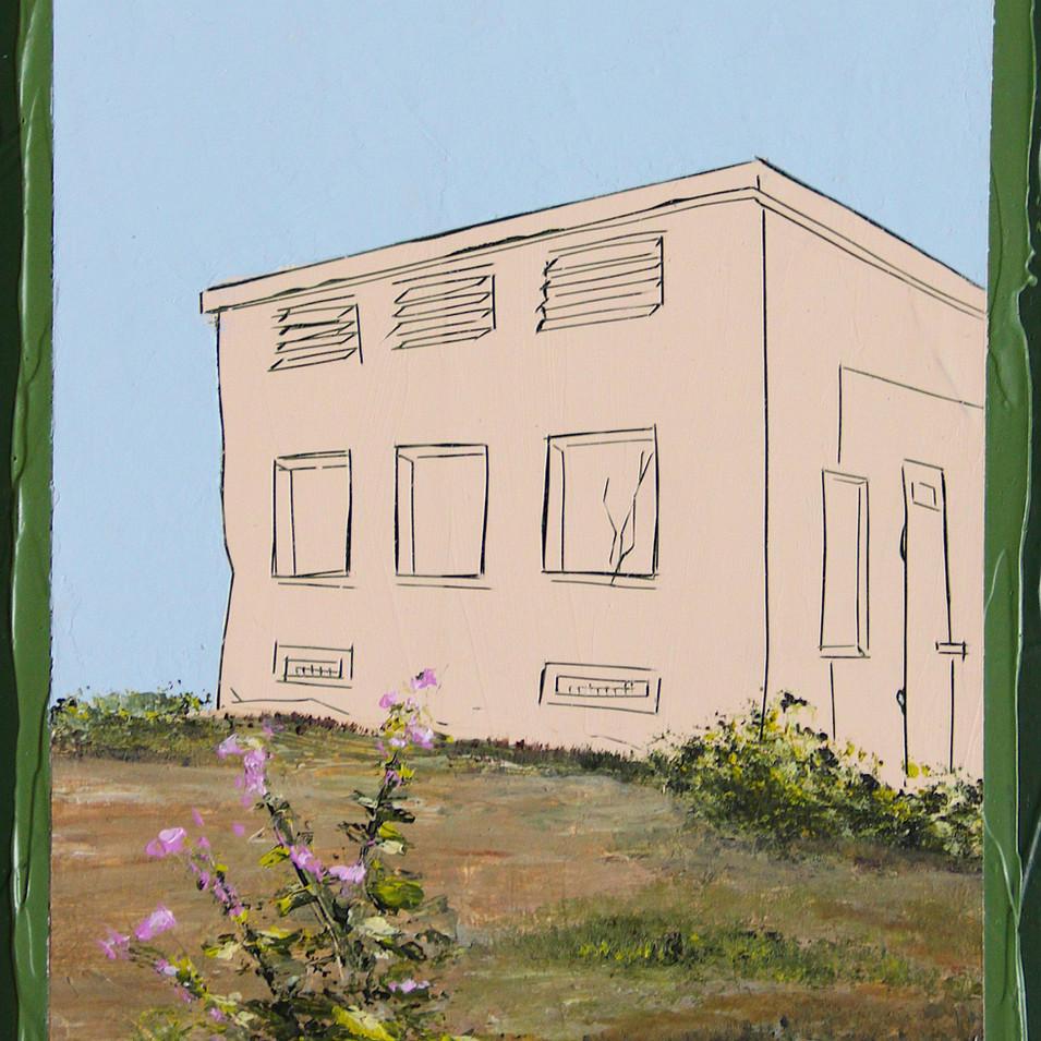 Andrea Imwiehe I Constructing Childhood 24 | 2018 | Acryl auf Holz | 20 x 15 cm | 700 Euro