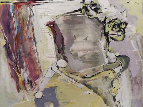 Harald Gallasch/ Wolfgang Opitz | Füllhorn | 2000 | Malerei auf Leinwand | 130 x 130 cm | 4900 Euro