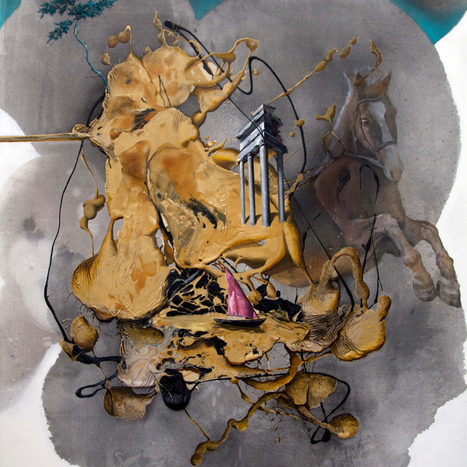 HaNuk Jung | Erinnerung | 2014 | Öl und Emaille auf Leinwand | 160 x 130 cm | 5800 Euro
