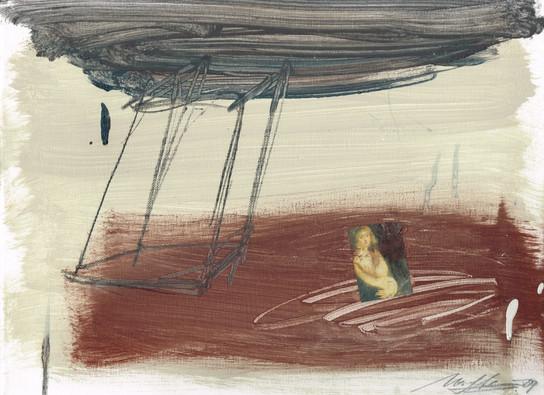 Matthias Stein | Hommage á P.P. Rubens XXXVIII | 2009 | Collage, Zeichnung, Malerei auf Leinwand | 30 x 40 cm |900 Euro