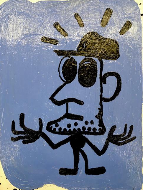 Oliver Kossack | Kleiner Mann, was nun? | Öl auf Leinwand | 40 x 30 cm | 2100 Euro