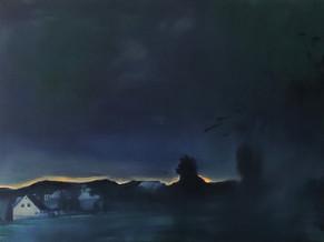 Thomas Geyer | Village | 2020 |Eitempera auf Leinwand | 60 x 80 cm | 1700 Euro