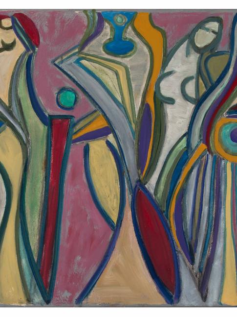 Veit Hofmann |Gemeinschaft | 2016 | Öl auf Leinwand | gerahmt | 80 x 60 cm | 3400 Euro