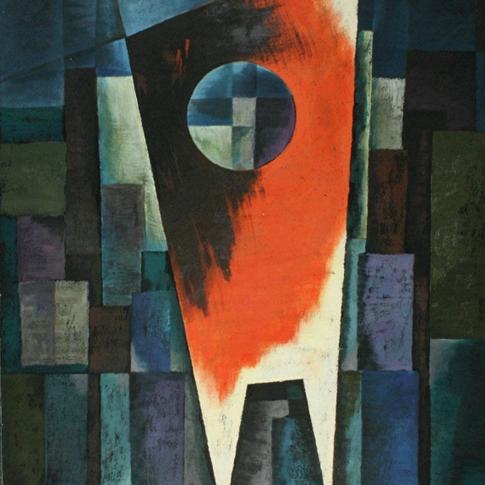 Georg Paul I Komposition 361 I 1964 I Öl auf Pappe I 70 x 49 cm I 2400 Euro