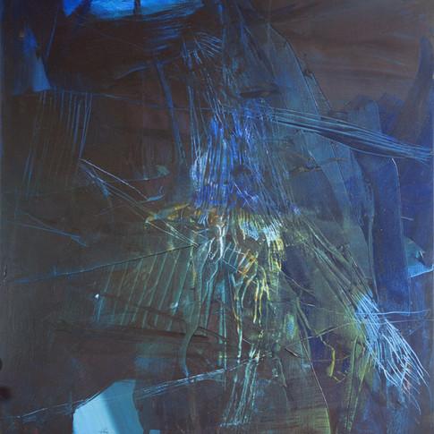 Vivien Nowotsch | Bewegung nach Rechts | 2010 | Acryl auf Leinwand | 100 x 80 cm | 1930 Euro