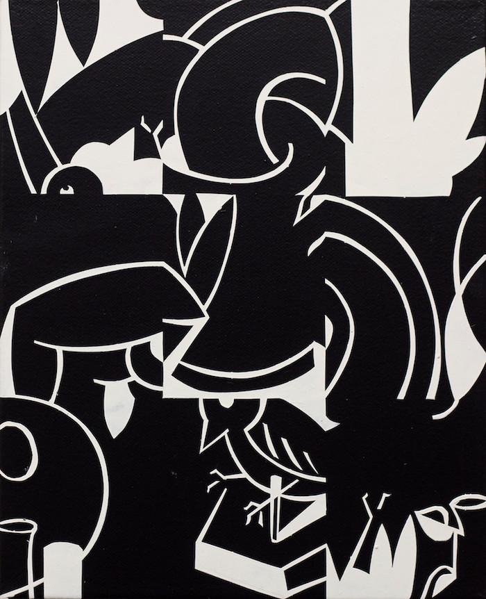 Philipp Weber | Stillleben und Vogel II | 2017 | Acryl auf Leinwand | 30 x 25 cm | 600 Euro