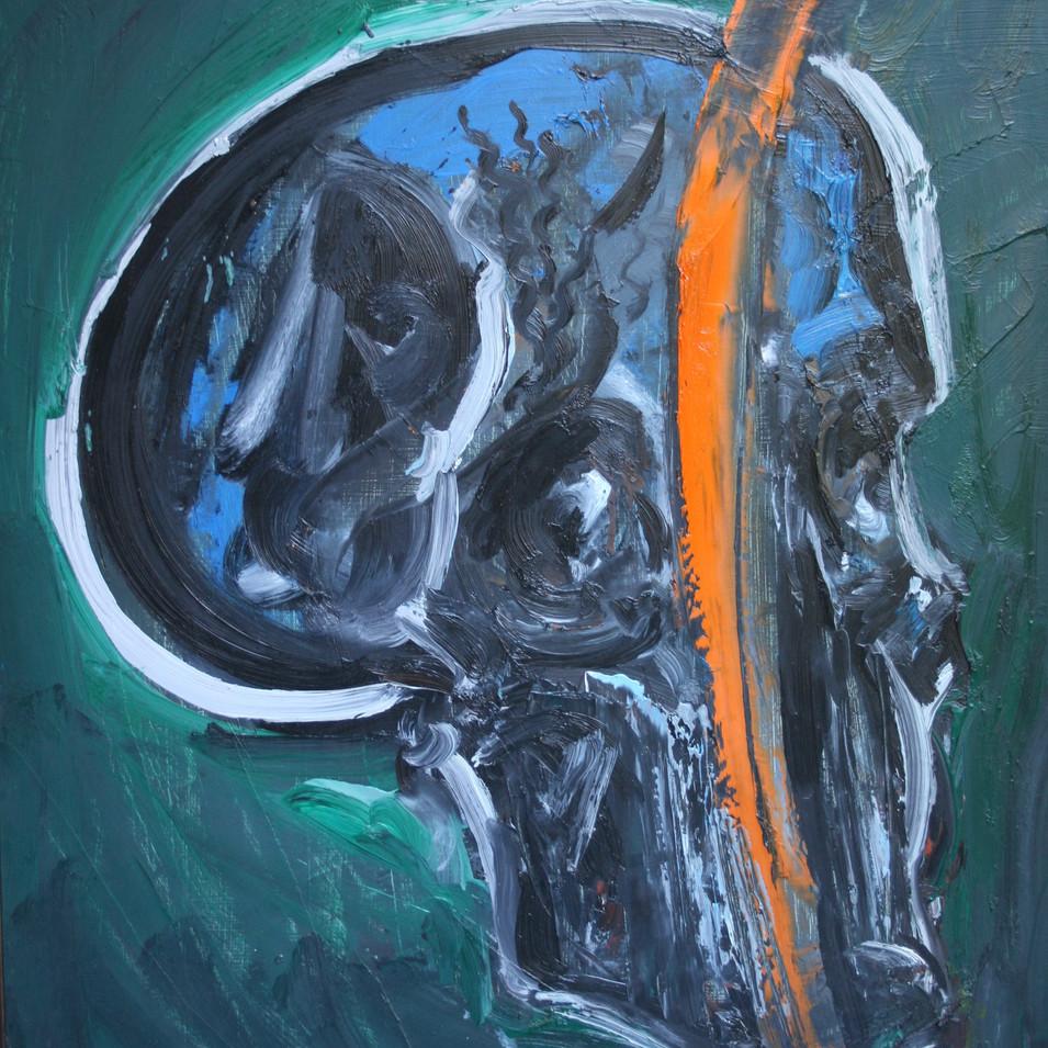 Hubertus Giebe | o.T. | 1995 | Ölfarbe auf Leinwand | 79 x 68,5 cm | 5200 Euro
