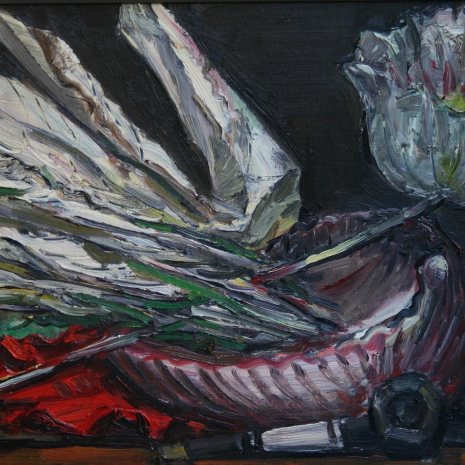 Hubertus Giebe   o.T.   2013   Ölfarbe auf Leinwand   30 x 43 cm   2500 Euro