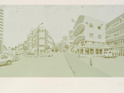 Harald Alff | Tel Aviv 5  | FHS | 2013 | Papierformat 50 x 70 cm | Grafikformat 31,5 x 60 | 180 Euro