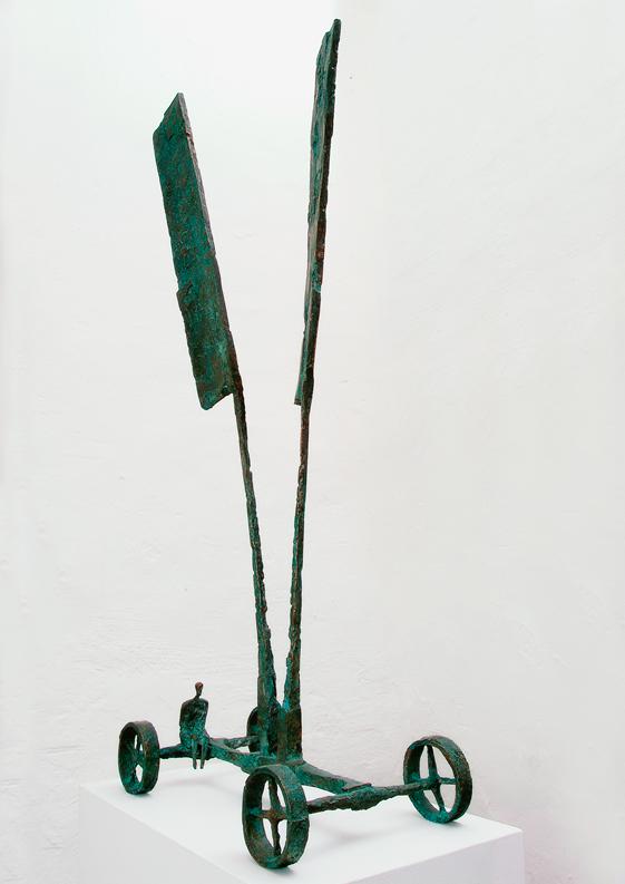 Michael Jastram | Fahnenwagen I | 2004 | Bronze | 103 x 43 x 23 cm | 10000 Euro