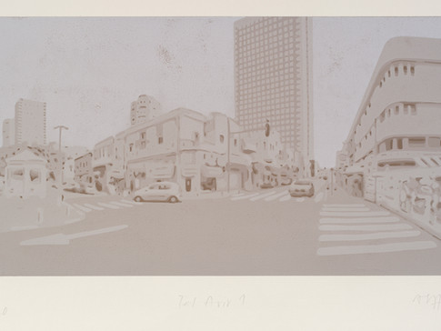 Harald Alff | Tel Aviv 1 | FHS | 2012 | Papierformat 50 x 70 cm | Grafikformat 31,5 x 60 | 200 Euro