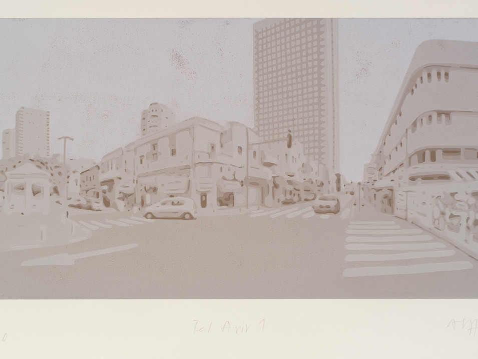 Harald Alff | Tel Aviv 1 | FHS | 2012 | Papierformat 50 x 70 cm | Grafikformat 31,5 x 60 | 180 Euro