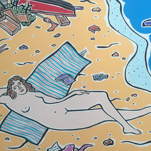 Moritz Götze | Am Meer, nach Cranach | 2016 | Öl auf Leinwand | 60 x 80 cm