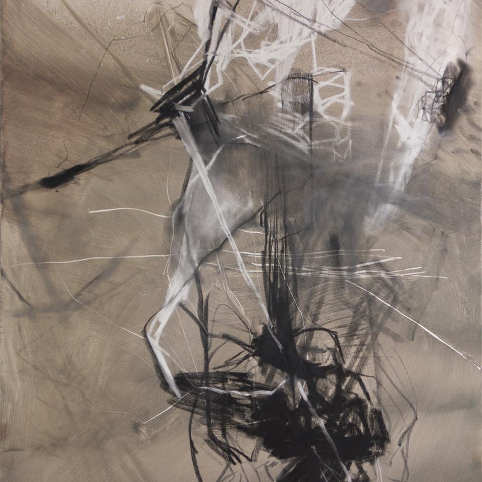 Vivien Nowotsch | Karawane | 2011 | Öl, Pastellkreide auf Leinwand | 100 x 80 cm | 1930 Euro