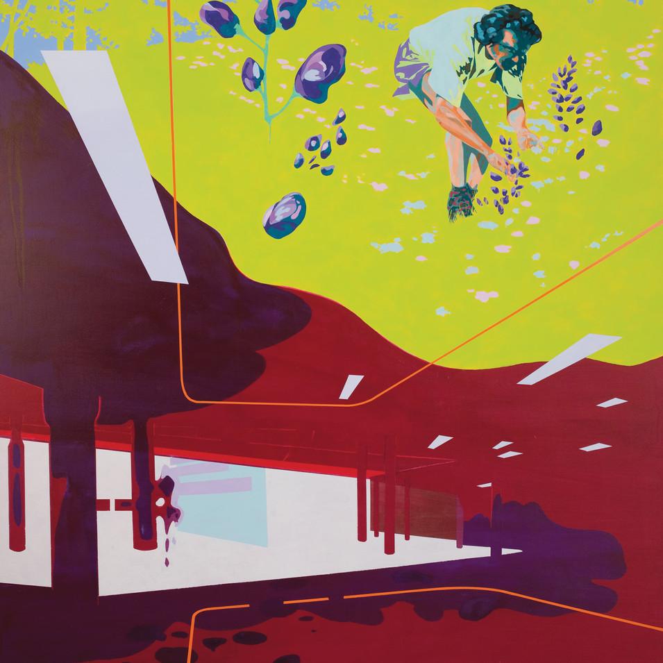 Pierre Fischer | fox aconitum | 2010 | Öl und Acryl auf Leinwand |160 x 140 cm|6500 Euro