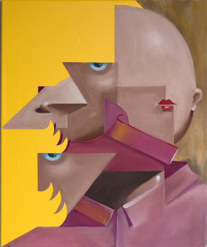 Philipp Weber | Der Herr | 2017 | Acryl auf Leinwand | 70 x 50 cm | 1300 Euro