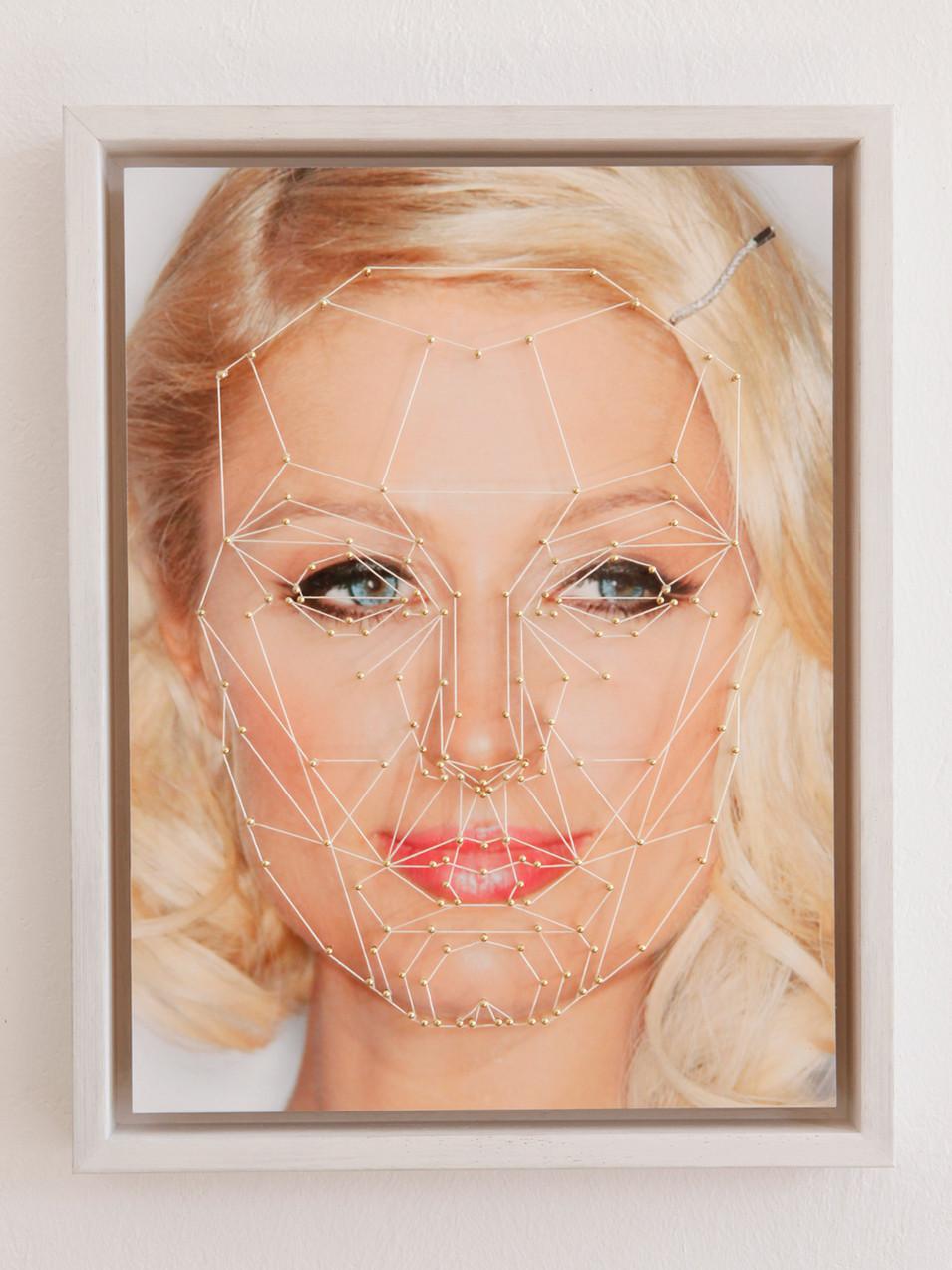 Anna Herrgott | MARQUARDT -P- | 2015 | Nägel und Schnur auf Fine Art Print 45 cm x 35 cm x 4,5 cm m.R. | Auflage 3