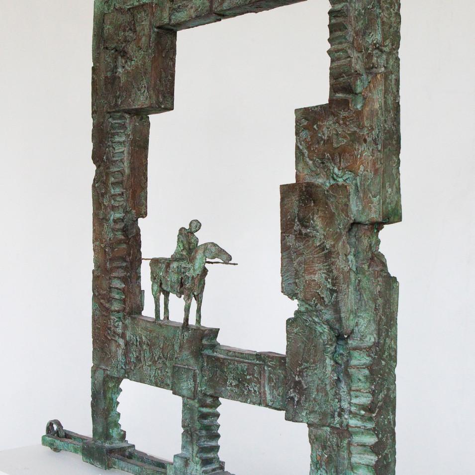 Michael Jastram | Asiatischer Wächter | 2013 | Bronze | 2/6 | 112 x 90,5 x 22 cm | 19500 Euro
