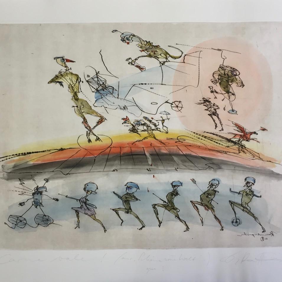 Dagmar Ranft-Schinke   Carne vale!   2010   Aquarell und Tusche auf Papier   57 x 76 cm   850 Euro