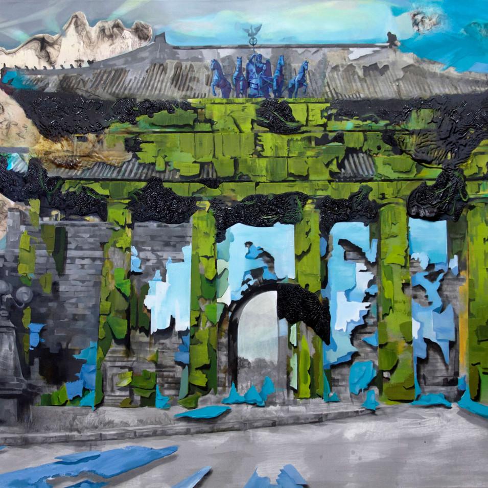 HaNuk Jung | Tor | 2014 | Öl und Emaille auf Leinwand | 130 x 200 cm | 6600 Euro