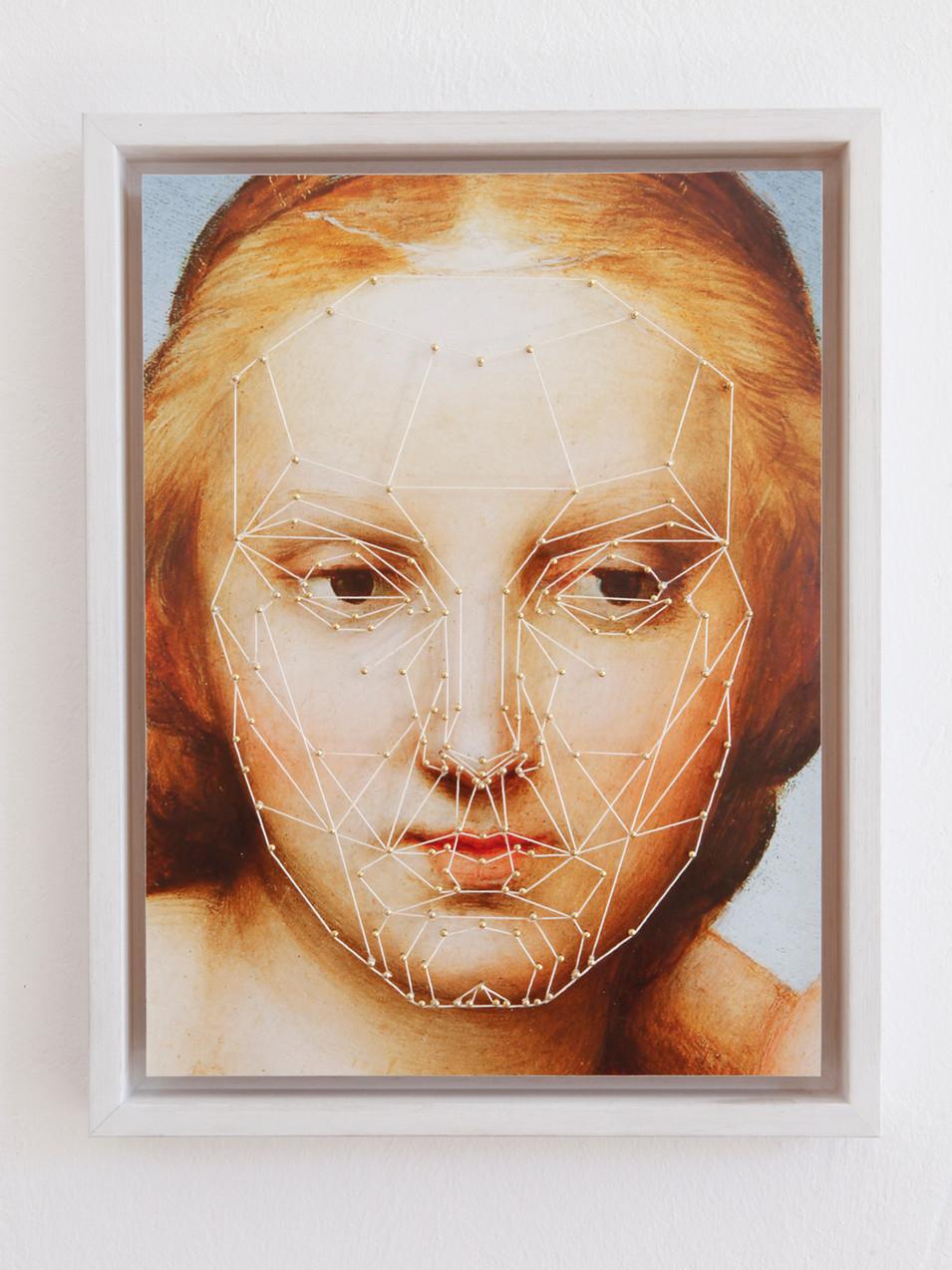 Anna Herrgott | MARQUARDT -R- | 2015 | Nägel und Schnur auf Fine Art Print 45 cm x 35 cm x 4,5 cm m.R. | Auflage 3