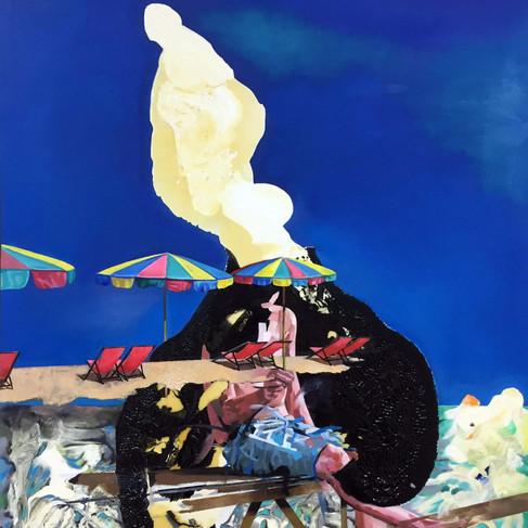 HaNuk Jung | Vacance | 2016 | Öl und Emaille auf Leinwand | 150 x 100 cm | 5000 Euro