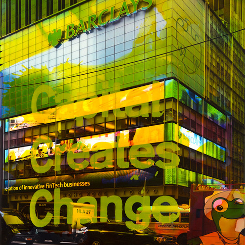 NY Reloaded E 20  | 2018 | Malerei und Siebdruck auf Fotografie | 40 x 30 x 5 cm | 1300 Euro