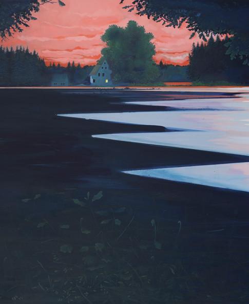 Thomas Geyer | Abendrot | 2014 | Eitempera auf Leinwand | 140 x 160 cm | 4500 Euro