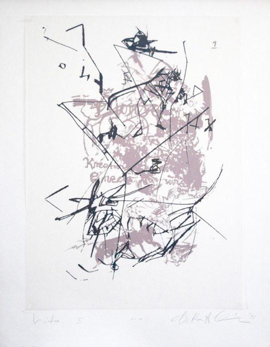 Dagmar Ranft-Schinke   Vita II   1993   Collage, genäht, Lithographie   1-10   58 x 76 cm  350 Euro