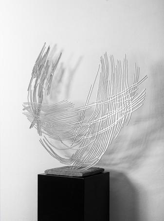 Barbara Szüts | Permeable 1 | 2014 | Skulptur Edelstahl | 100 x 110 x 0,3 cm | Auflage 4 + 1 AP |  8800 Euro