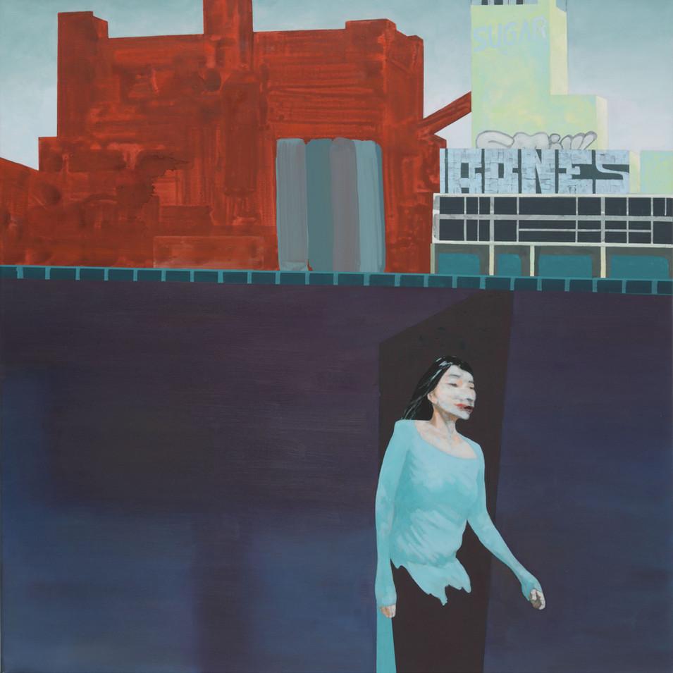 Pierre Fischer | Sugarbones | 2013-14| Öl und Acryl auf Leinwand |110 x 100 cm |4500 Euro