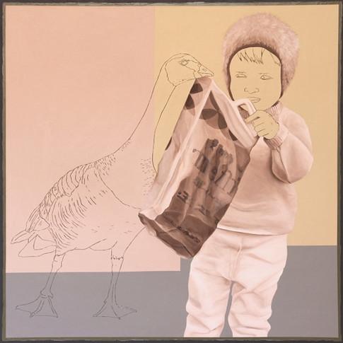 Andrea Imwiehe | Anamnesis | Acryl auf Holz | 80 x 80 cm | 3200 Euro