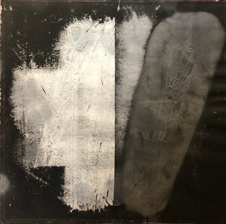 Michael Morgner | Die Nacht | 1984 | Lavage auf Bütten | 52 x 52 cm | 750 Euro