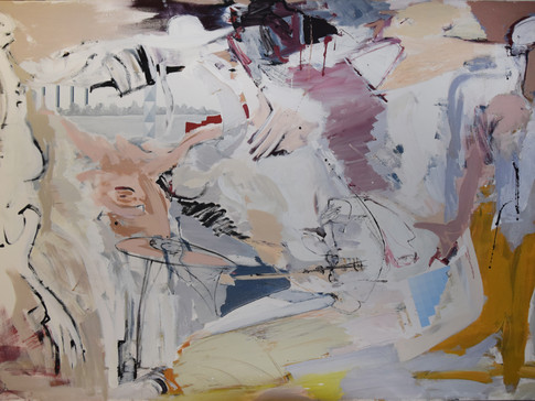 Harald Gallasch/ Wolfgang Opitz |Blick am Rhein | 2000 | Malerei auf Leinwand | 160 x 260 cm | 7900 Euro