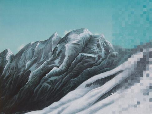 Axel Teichmann   Auflösung   2012   Acryl auf Leinwand   50 x 50 cm   3000 Euro