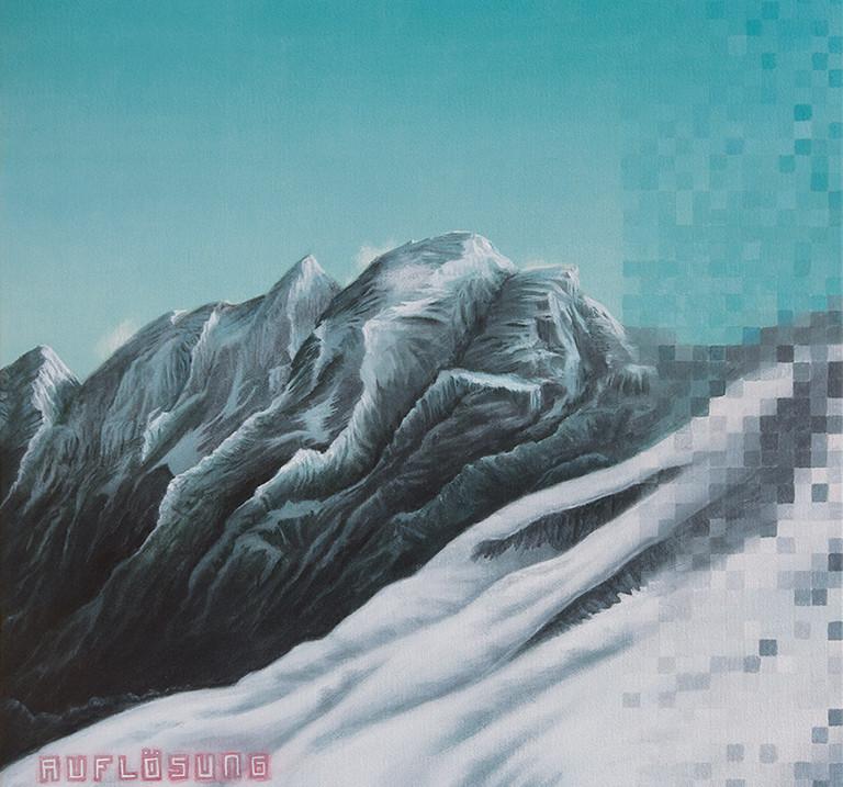 Axel Teichmann | Auflösung | 2012 | Acryl auf Leinwand | 50 x 50 cm | 3000 Euro