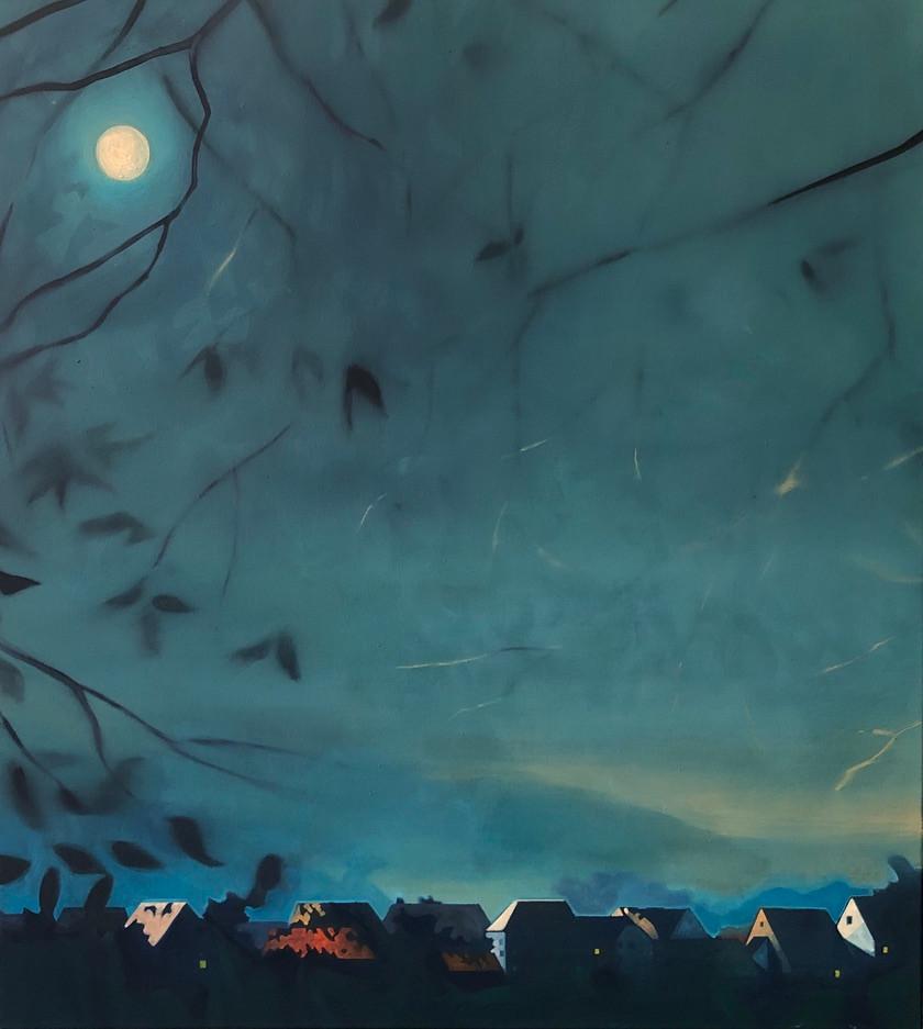 Thomas Geyer | Aus der Ferne | 2020 | Eitempera auf Leinwand | 100 x 90 cm | 4200 Euro