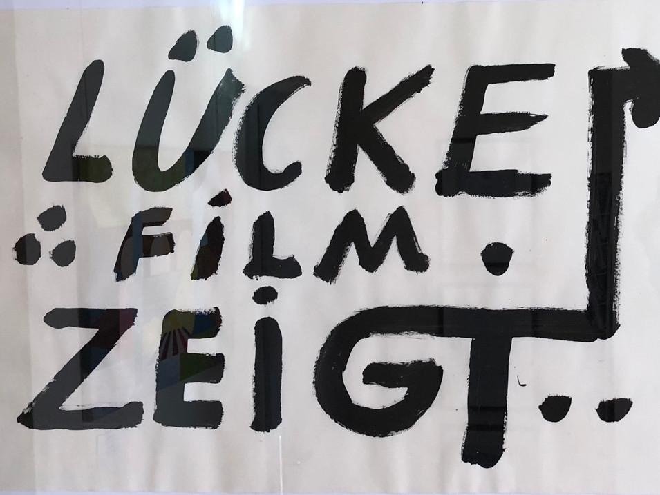 A.R. Penck |Lücke Film zeigt | 1992 | 50 x 73 cm | Anfrage