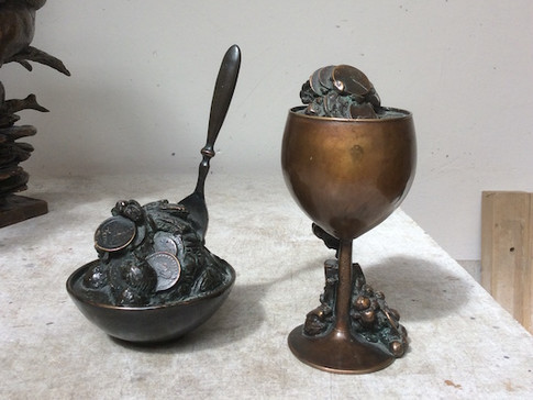 Jochen Schamal | Kelch | Bronze | 2005 | h - 17,5 cm | 750 Euro