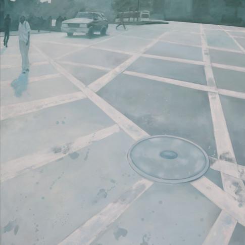 Pierre Fischer | Harlem Silverlight | 2013 - 14 | Öl und Acryl auf Leinwand |110 x 100 cm | 4500 Euro